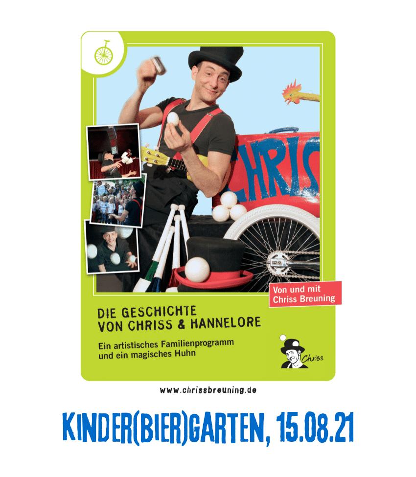 Spielplatz der Kulturen - ProgrammpunktKinder(bier)garten 15.08.21