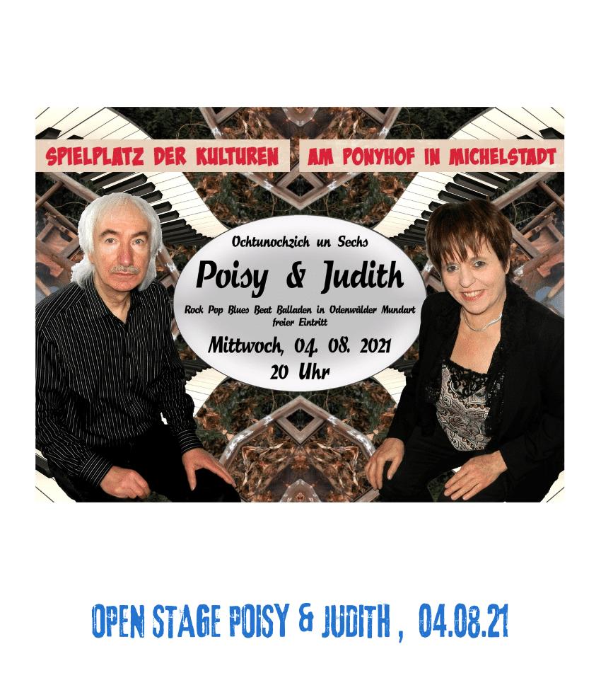 Spielplatz der Kulturen - Programmpunkt - Open Stage Poisy & Judith